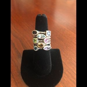 Ross Simons Sterling Silver Ring with Gemstones
